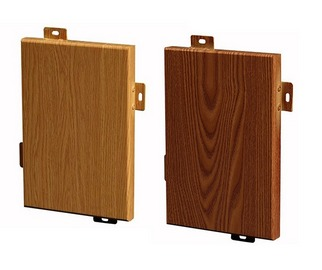 云南木纹铝单板在应用中与实木原木的区别